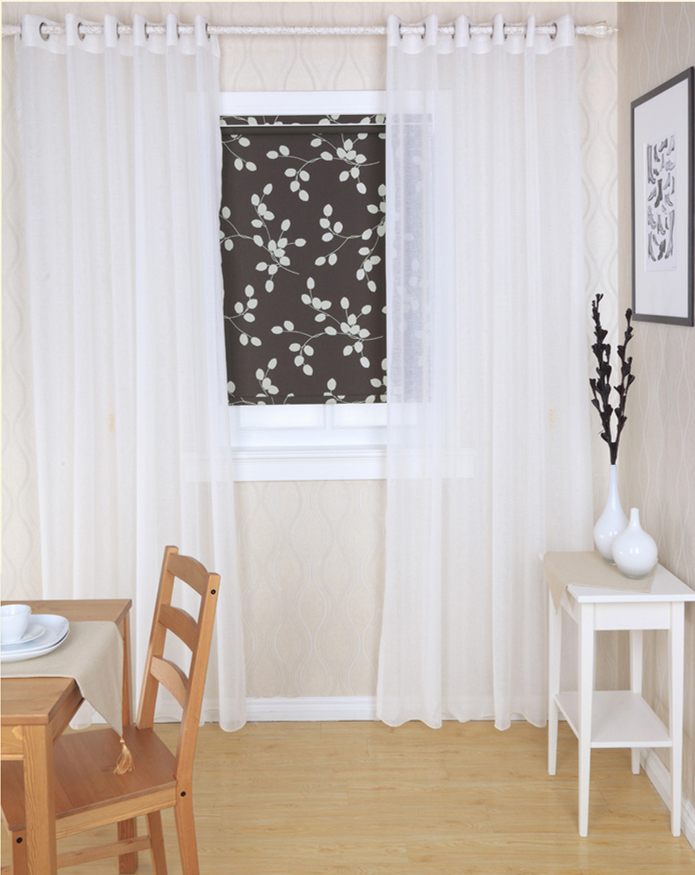 ALLBRIGHT home curtains in fancy fabric plain sheer curtains white