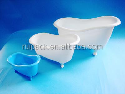 Sliver Mini Bathtub Uv Craft Plastic Bathtub Gift Pp