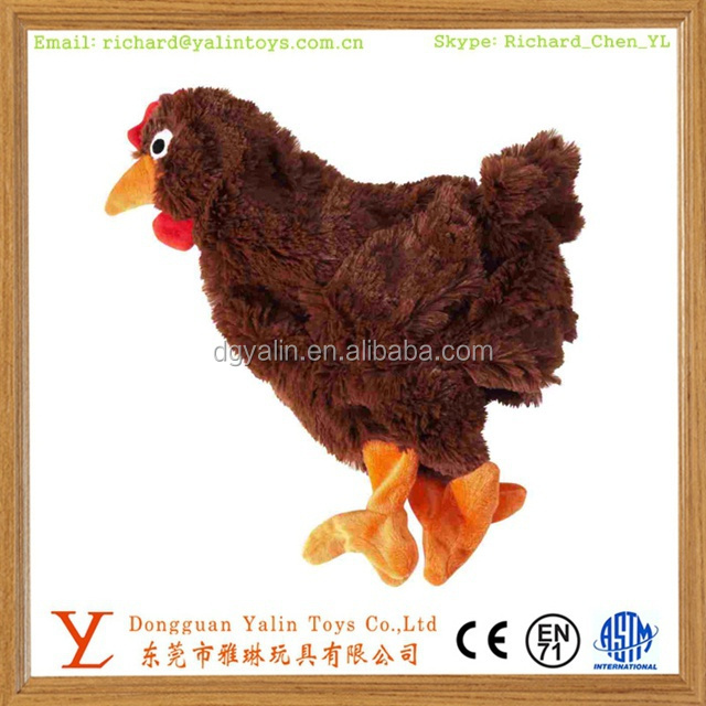 Realistic stuffed animal toys plush fluffy farm laying hens toy for promotion