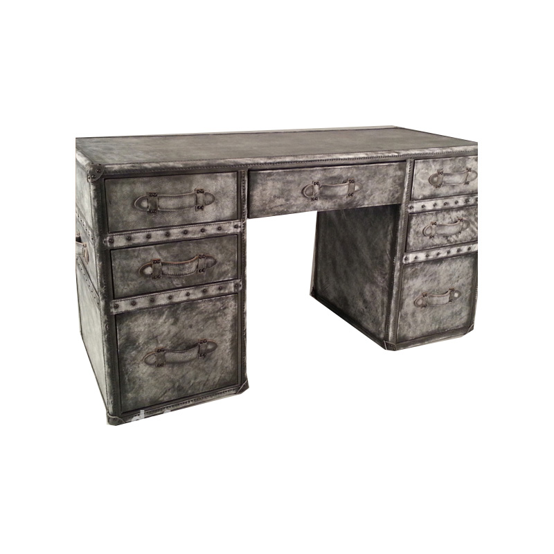 High Quality Antique Retro Style Vintage Leather Office Desk