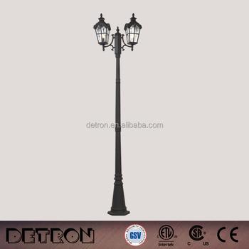 Retro Elegant Cast Iron Garden Lighting Pole/outdoor Solar Led Street Garden  Light