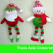 Cheap popular Best selling 6'' christmas plush snowman ornaments