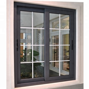 2018 Modern house aluminum windows style of window grills design for sliding windows