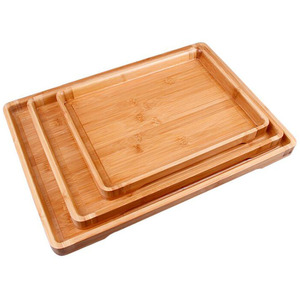 Wholesale Custom Bamboo Tea Bathtub Caddy Serving Tray With Handles For Home Hotel Restaurant Usage