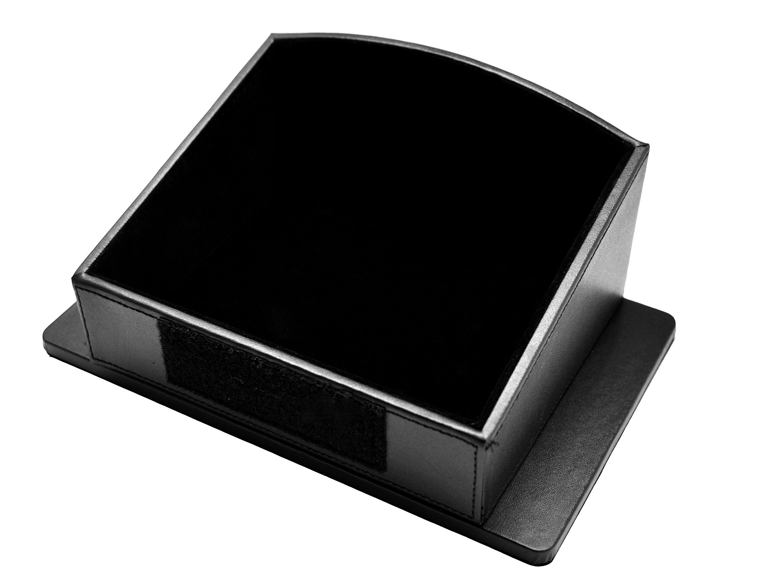 Topfit Rear Center Storage Box for Tesla Model S, Seat Back Center Container for Tesla Black