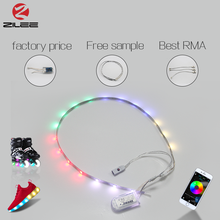 Free sample factory price led flashing shoes light, 10 intelligent control methods built-in IC led light strip for sneaker