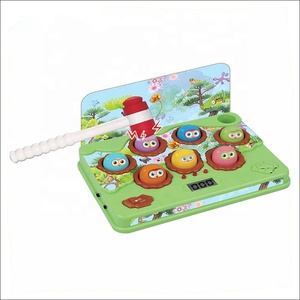 Educational electronic music play whack a mole with hammer game toy