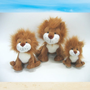 gift item leo lion yellow plush toys for forest park