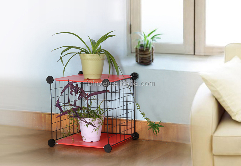 Versatile Grid Wire Modular Shelving And Storage Cubes Wire Grid ...
