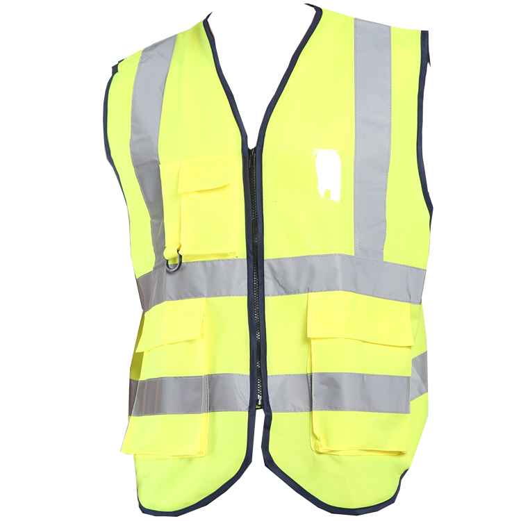 Hi Vis Bouw Security Guard Reflecterende Vest Met Zakken