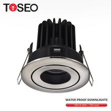 10 W cut out formato 7.5 <span class=keywords><strong>cm</strong></span> impermeabile da incasso cob led illuminazione bagno mostra luce ip65 ha condotto il downlight