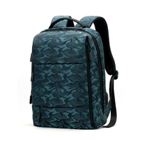 INEO Camouflage Laptop Backpack Fashion Ladies Backpack PU Leather WOmen's Laptop Backpack