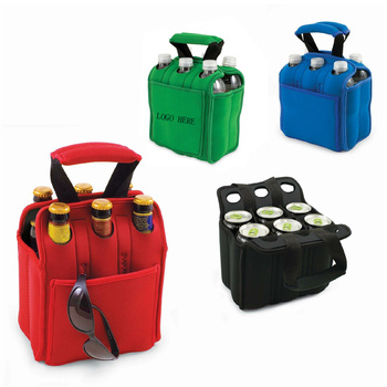 Oempromo six pack Neoprene Insulated Bottle Tote bag With Padded Handles