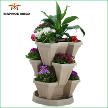 Nice design flower pot injection mold from China Tianyou