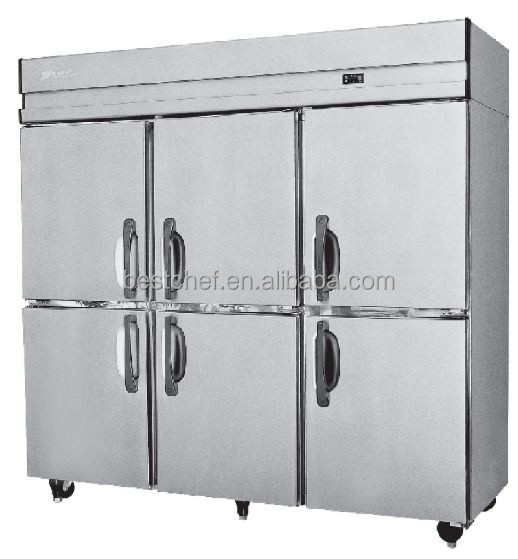 Economy upright freezers electric refrigeration 6 door 1500Lts