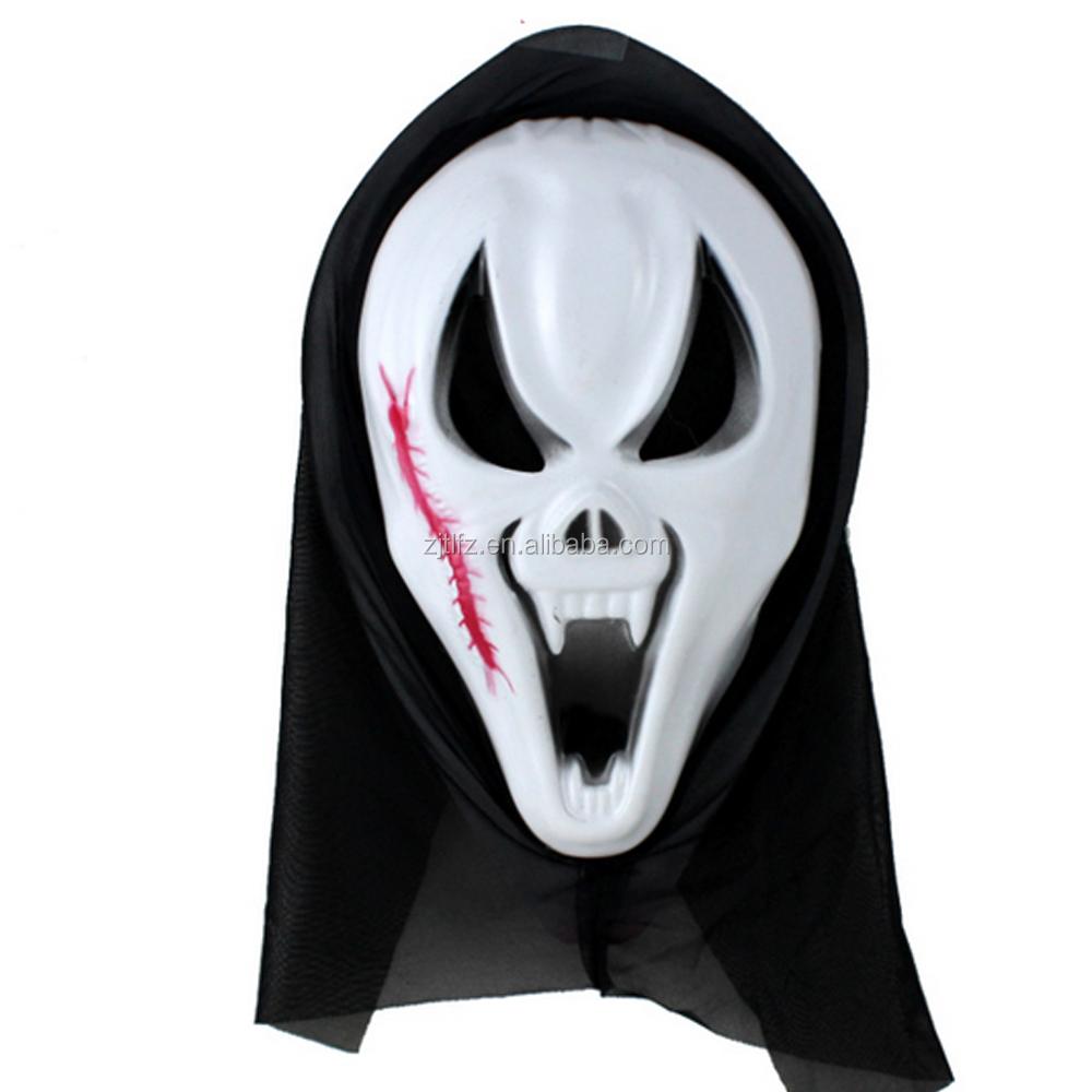 Halloween Cheap Plastic Horror Scary Mask - Buy Halloween Cheap ...