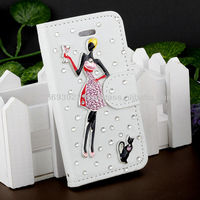 Handmake Diamond Leather Phone case for Iphone 4/4s