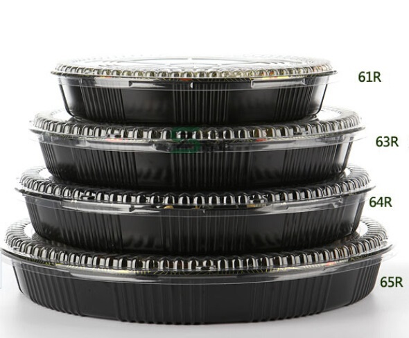 13 high quality 64r 5 compartment plastic sushi box plastic food plate takeout sushi. Black Bedroom Furniture Sets. Home Design Ideas