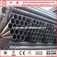 GOOD PRICE 2 INCH ASTM A53 GRADE B BLACK ROUND STEEL PIPE FOR HANDRAIL