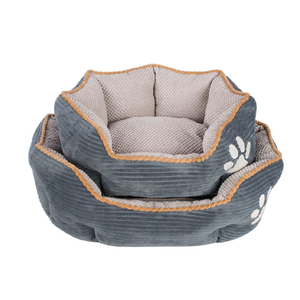2018 hot sell customize luxury washable 100% polyester pet cat/dog supplies bed