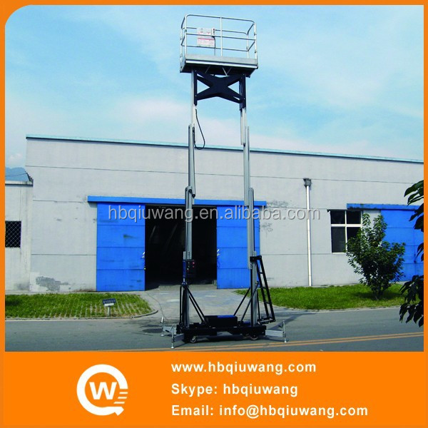 Dual Mast Big Wheel Widely Used Movable Telescopic Cylinder Aerial Working Platform