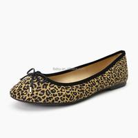 2015 Good Quality leopard print upper ladies wholesale shoes new york