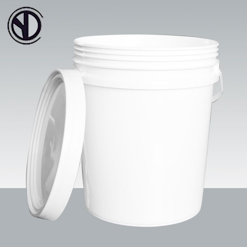 Bucket Pail Manufacturer, 5 gallon white round empty plastic buckets/barrel/pails with lid and handle