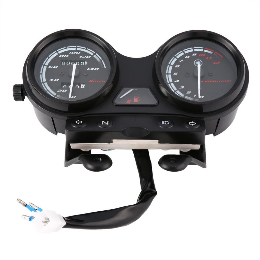 Universal Motorcycle Meter Ybr125 Black Led Light Odometer