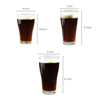 Wholesale Bar Party Lead-Free Funny Pint Beer Glasses custom logo