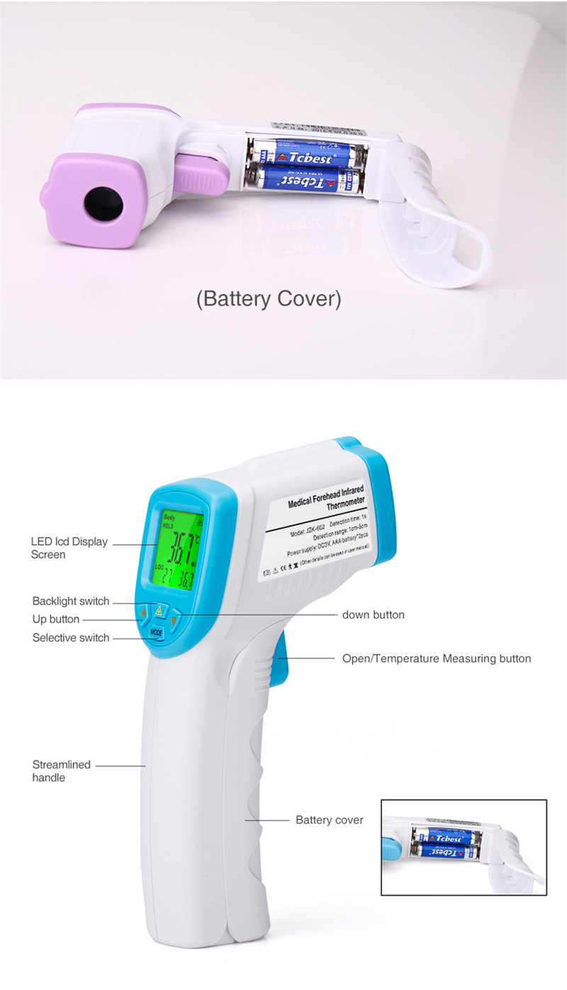 Baby Adult Forehead Non Contact Infrared Thermometer With Lcd Backlight - KingCare   KingCare.net