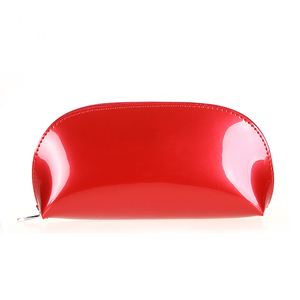 Promotional Beautiful Travel Small Cosmetic Pouch Women Clutch Bag PVC Shiny Cosmetic Beauty Makeup Bag
