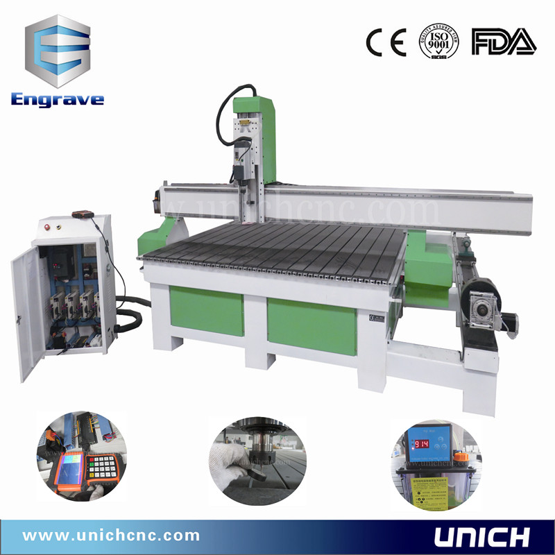High configuration extra large working area with rotary/cnc router for wood kitchen cabinet door
