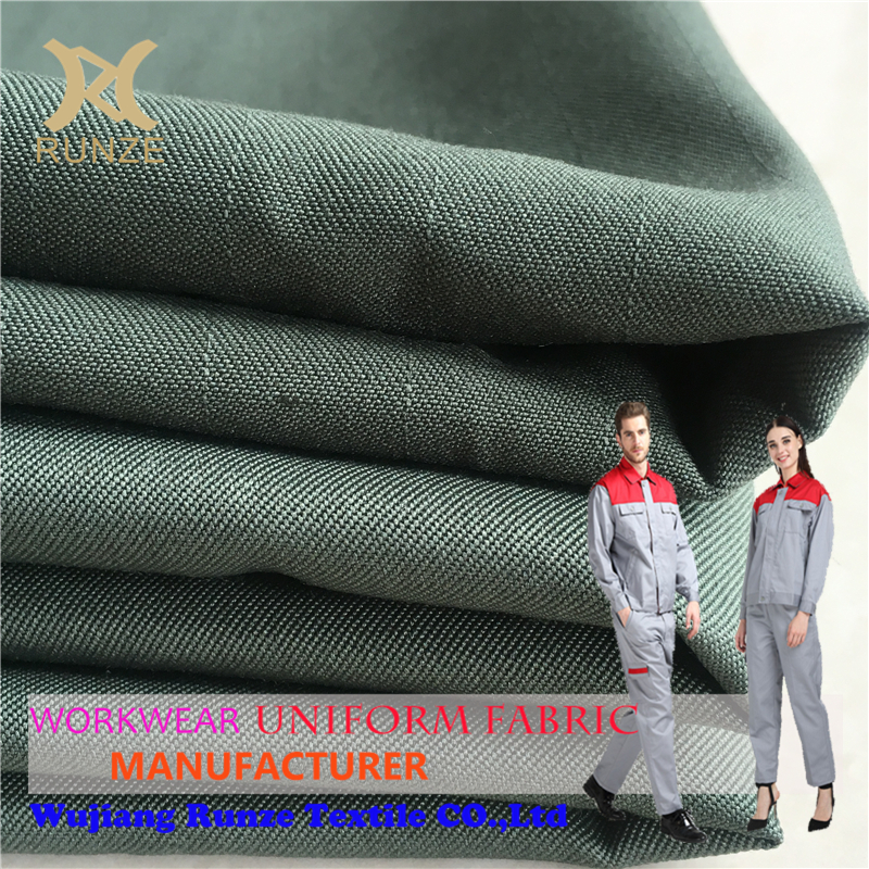 Wick Quit Dry 220GSM Polyester Cotton ESD Fabric For Workwear Anti-Static TC Uniform Cloth RZ1448