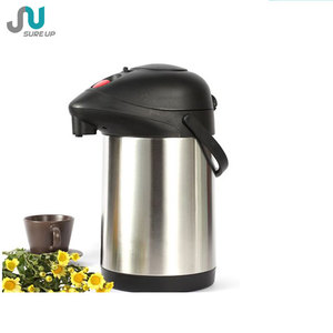 Pump action double wall vacuum insulated stainless steel coffee pot thermos (ASUK)