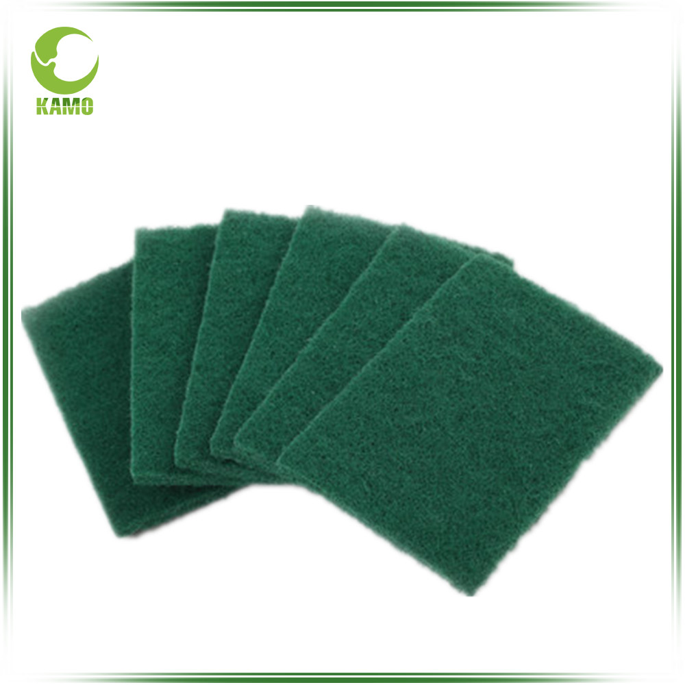 China factory easy clean healty fiber green scrubber pads