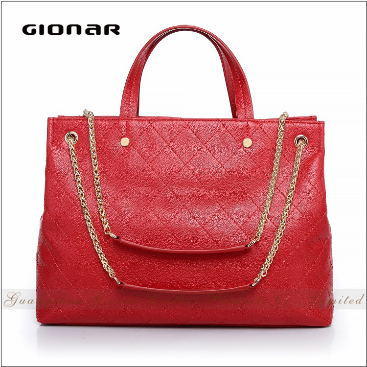 Elegant Women Quilted Women's Bag with Chain Handle Wholesale Handbag