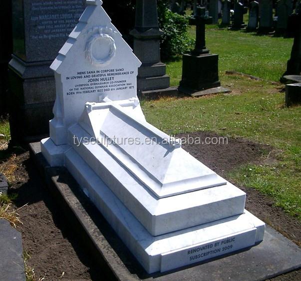 Granite Grave Slabs : White marble grave slab headstones stone coffin for