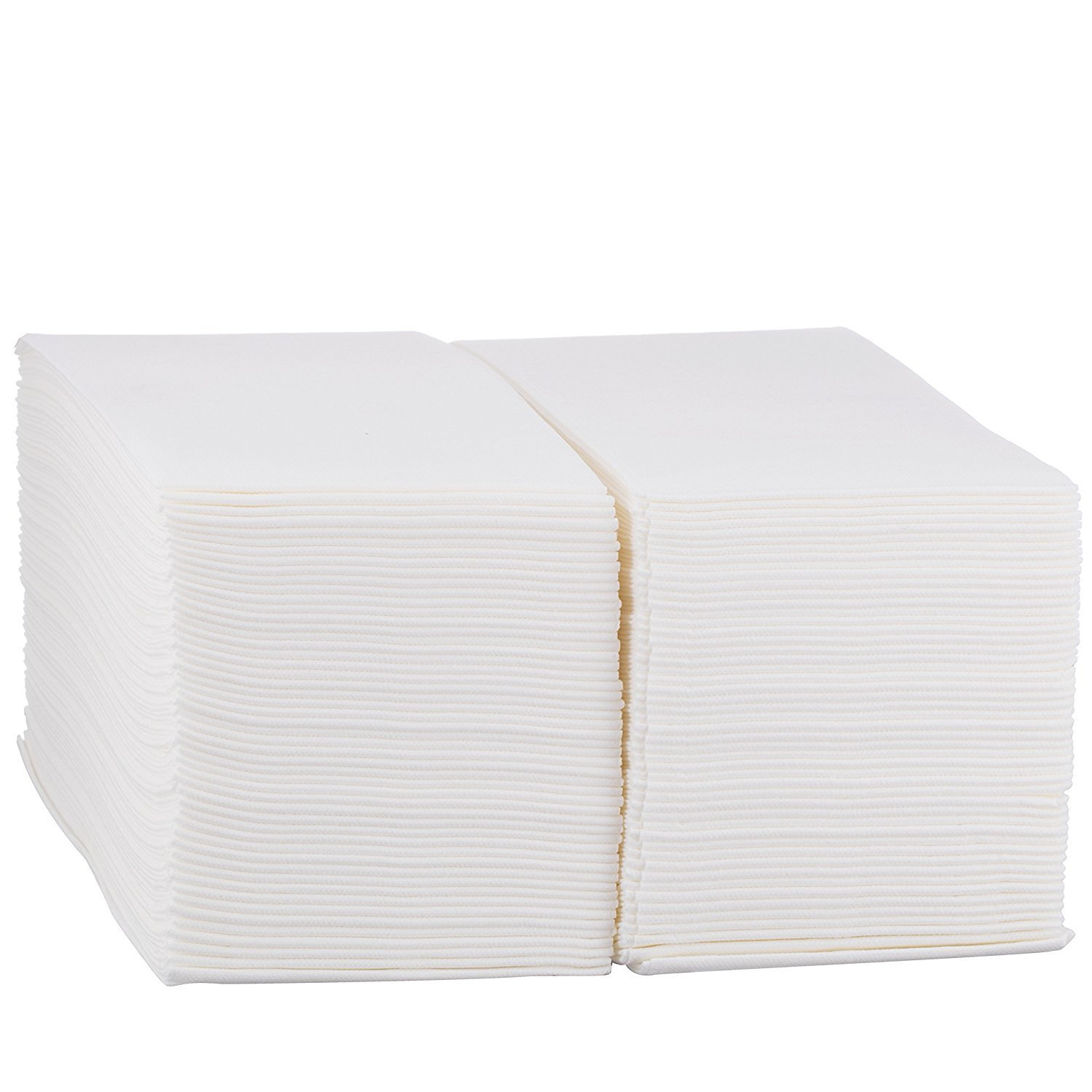 Disposable Cloth-Like Paper Hand Guest Towels - Soft, Absorbent, Air laid Tissue Paper for Kitchen, Bathroom or Events, White Guest Towel (100)