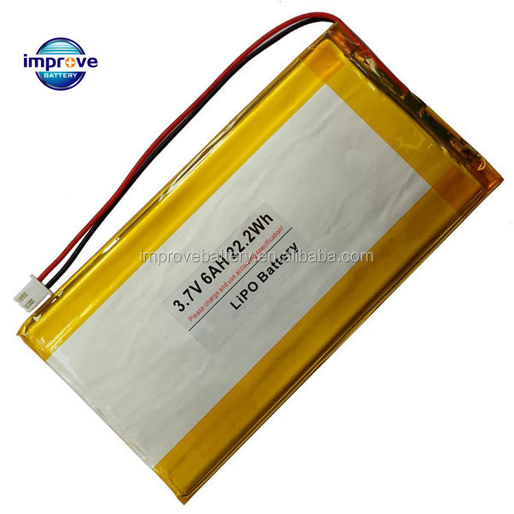 3.7v 6000mah lithium polymer battery 5866125mm 3.7v li-ion polymer battery for tablet