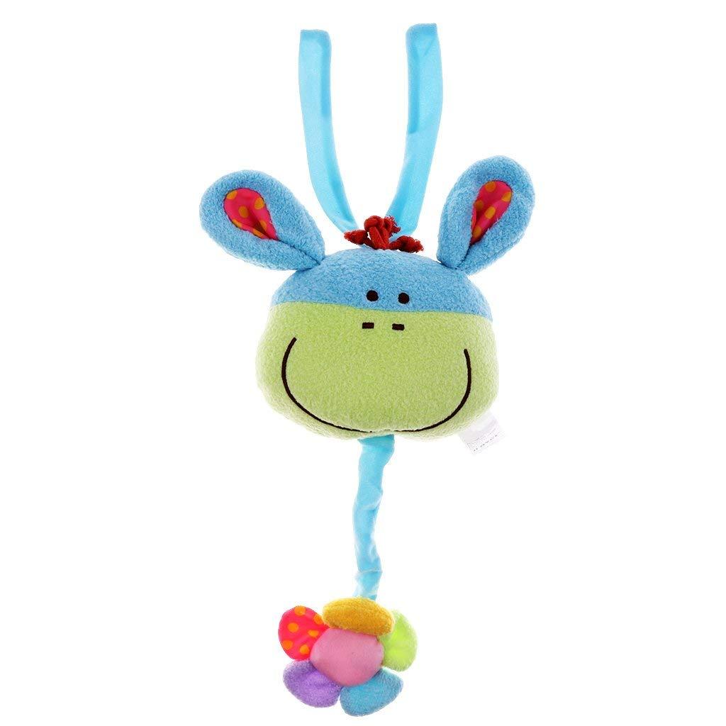 Homyl Baby Infant Crib,Stroller,Cot,Buggy,Pram Car Seat Hanging Music Toy Various - Blue donkey
