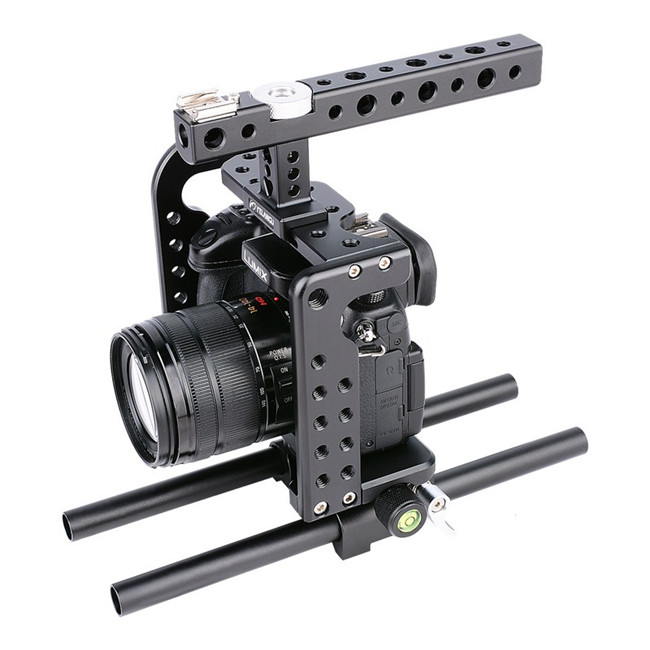 Lightweight Aviation Aluminum Alloy CNC Camera Cage Rig Kit for GH5 GH4