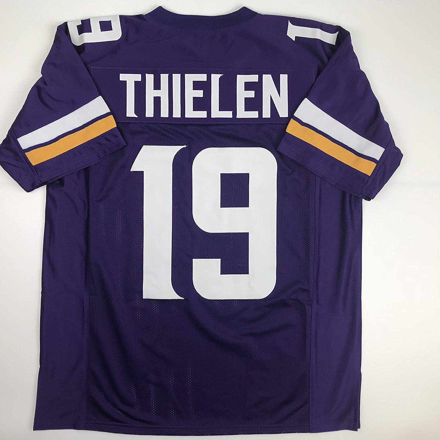 f937b5c865f Get Quotations · Unsigned Adam Thielen Minnesota Purple Custom Stitched  Football Jersey Size Men's XL New No Brands/