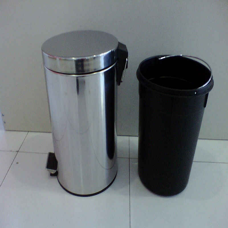 Popular using stainless steel pedal trash can