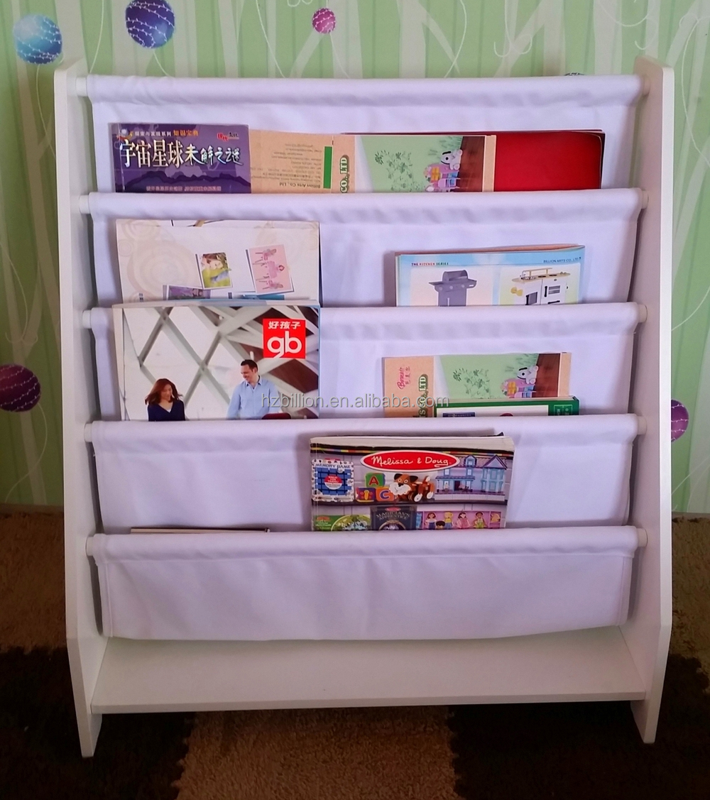 New Bookcase Toy Box White Finish Bedroom Playroom Child: Fashion New Product Multifunctional Wooden Kids Bookshelf