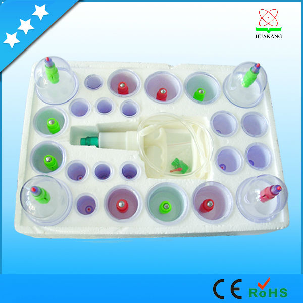 Chinese traditional disposable vacuum accupuncture cupping set