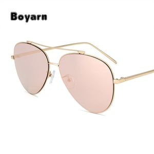 BOYARN New Brand Classic sunglasses Men Women Colorful Reflective Coating Lens Eyewear Accessories Sun Glasses ss086