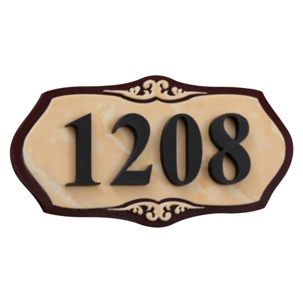 """Aspire Customized Home Address Sign, House Hotel Office Number Sign, Personalized Acrylic Address Plaque Sign-Marble Pattern A-5.9"""" L x 11.8"""" W"""