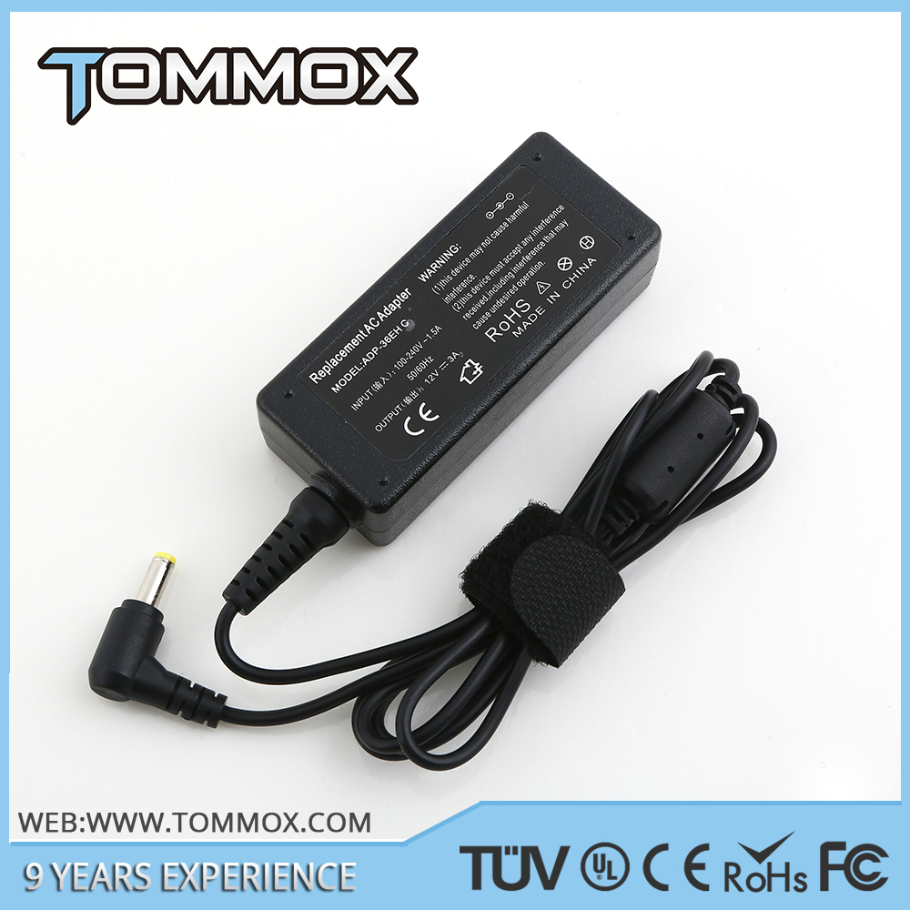 Laptop AC Adapter For Asus ADP-36EH C R33030 Eee PC 900 1000 series Charger 12V 3A 4.8*1.7mm KA8001AS