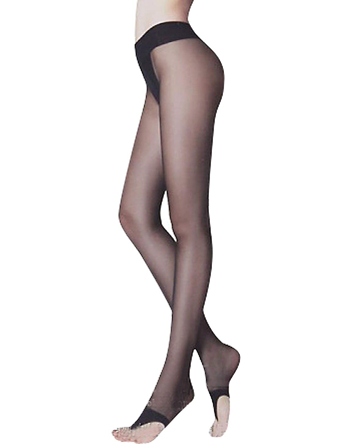 23c195d6074aa Get Quotations · Ladies Reinforced Crotch Thong-style Stirrup Pantyhose