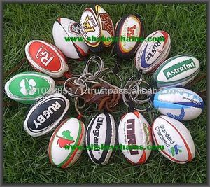 Miniature Rugby Ball Keychain